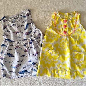 Set of Girl's 4T dress & Romper